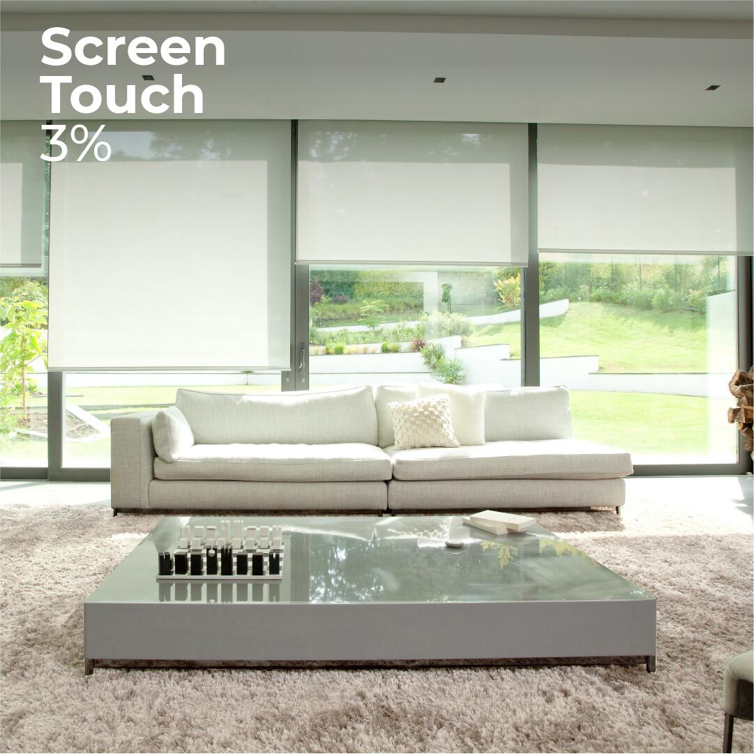 Cortina Roller Screen Touch 3% - 1.5m ancho x 2.4m alto
