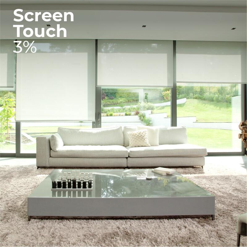 Cortina Roller Screen Touch 3% - 1.8m ancho x 1.65m alto