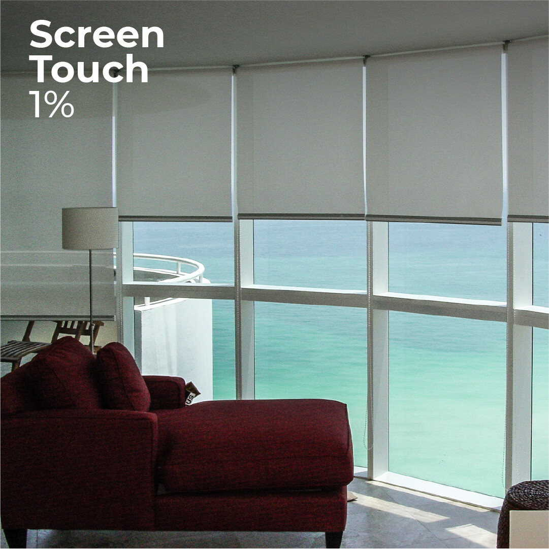 Cortina Roller Screen Touch 1% - 1.2cm ancho x 2.4m alto
