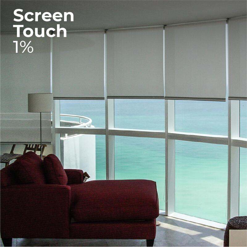 Cortina Roller Screen Touch 1% - 1.2m ancho x 1.4m alto