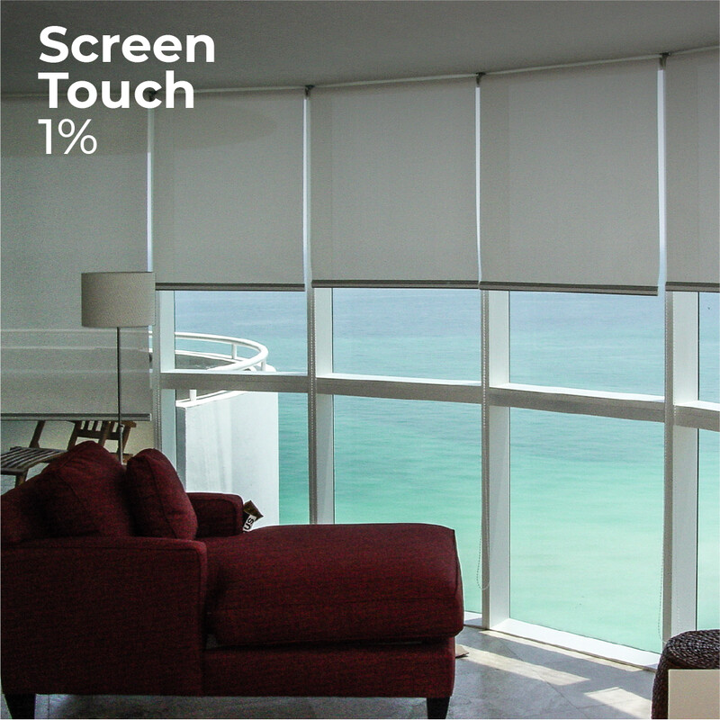 Cortina Roller Screen Touch 1% - 1.5m ancho x 2.4m alto