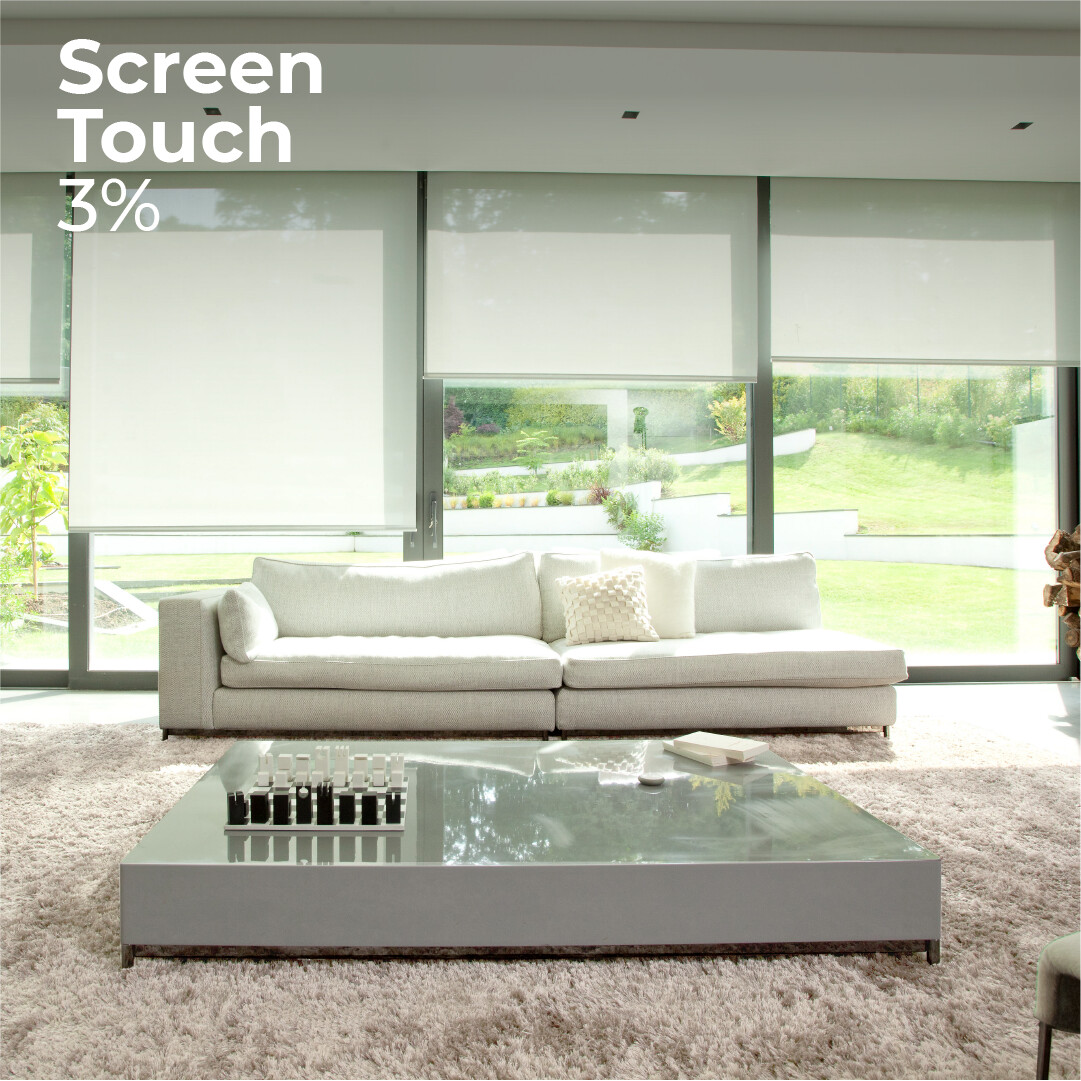 Cortina Roller Screen Touch 3% - 1.2m ancho x 2.4m alto