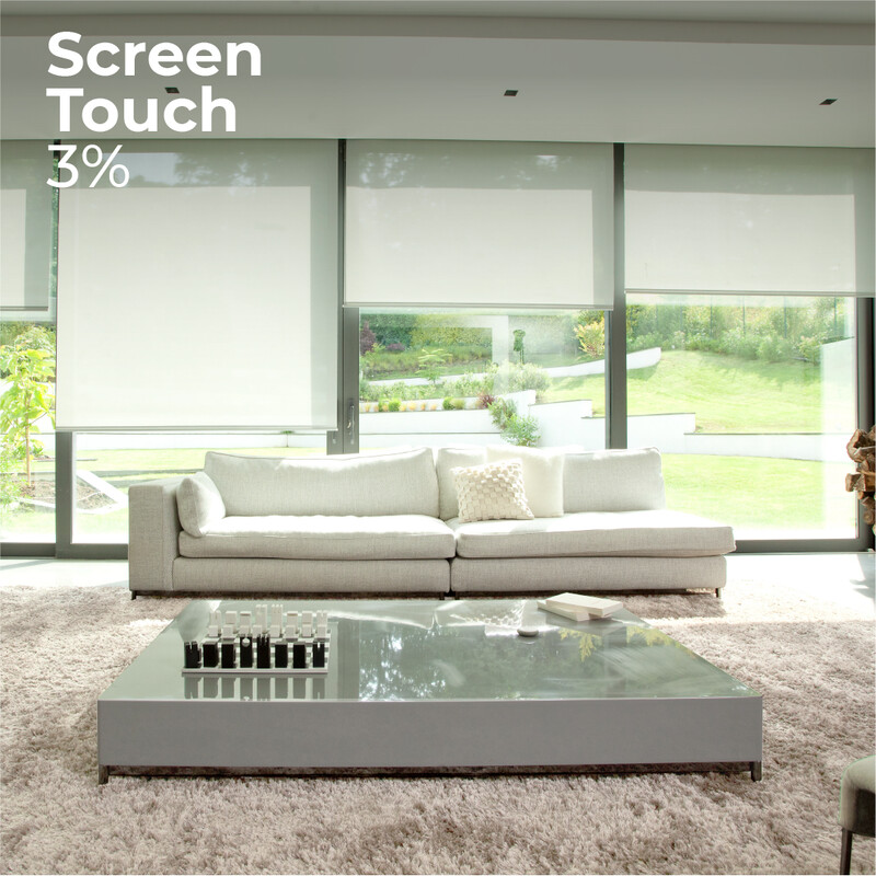 Cortina Roller Screen Touch 3% - 1.2m ancho x 2.4m alto