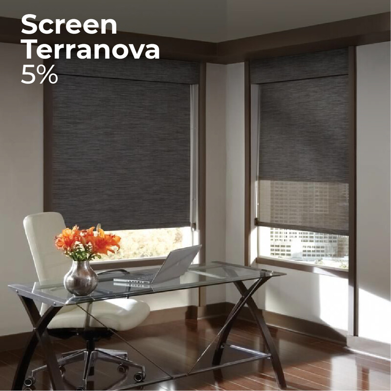 Cortina Screen Terranova - 1.2m ancho x 1.4m alto