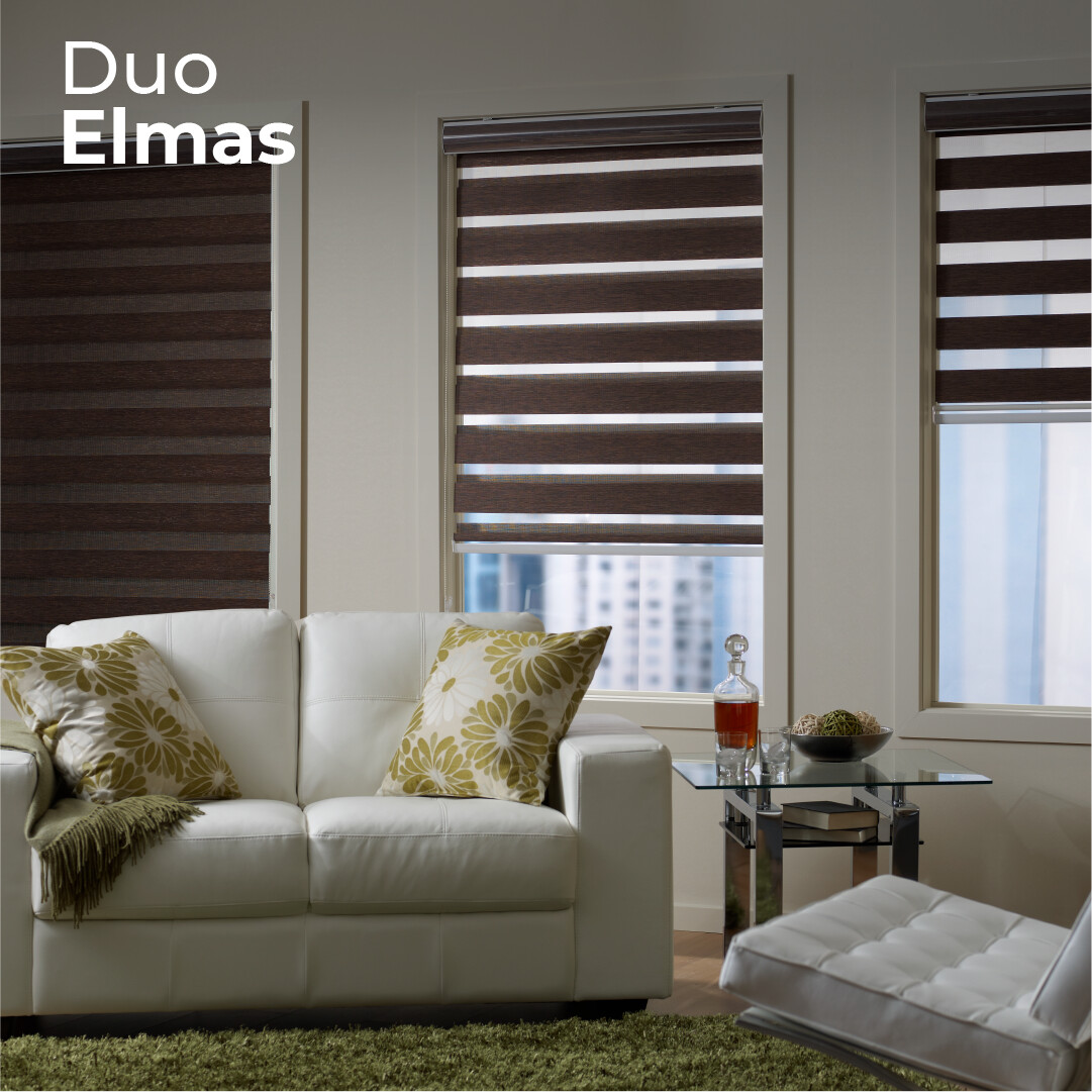 Cortina Duo Elmas - 1.5m ancho x 2.4m alto