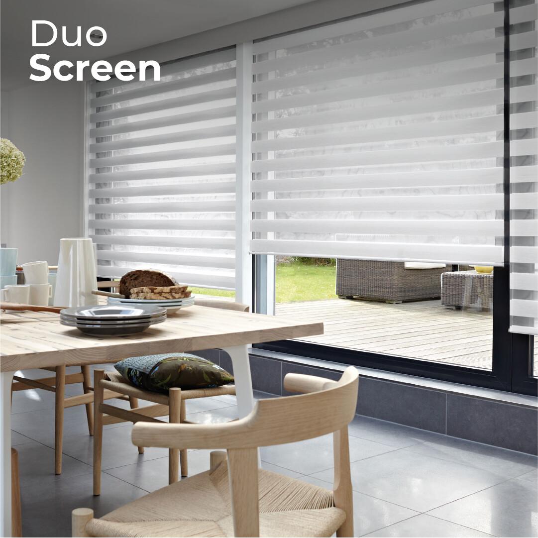 Cortina Duo Screen - 1.5m ancho x 2.4m alto