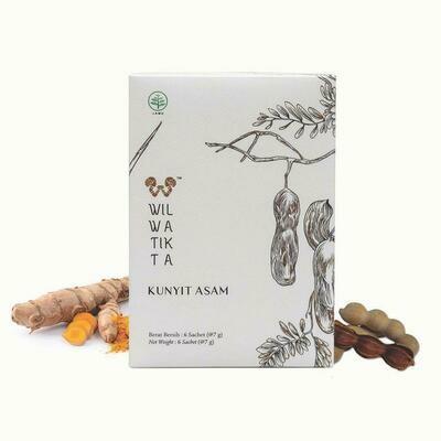 Wilwatikta Kunyit Asam / curcuma tamarin (Jamu / 6 sachets)