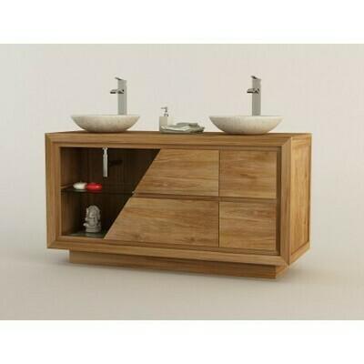 Meuble teck salle de bain AMBON - 140 cm