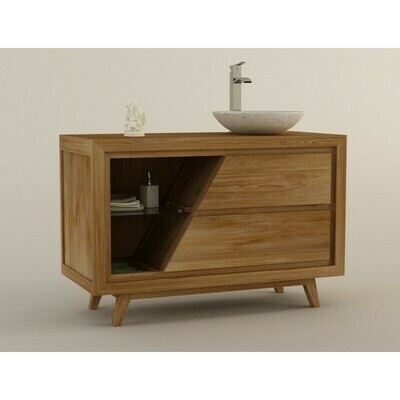 Meuble teck salle de bain KUPANG - 120 cm
