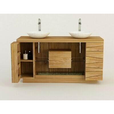 Meuble teck salle de bain KUPU KUPU - 150 cm