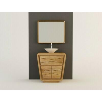 Meuble teck salle de bain MADURA 2 portes - 80cm