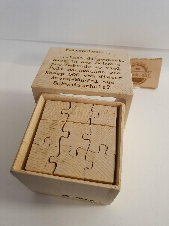 Handmade Arvenwürfel unbehandelt 3d Puzzle