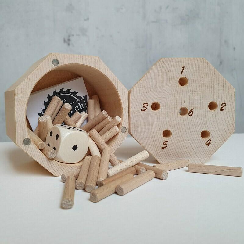 """Handmade Arvenspiel  """"tschau 6"""" das Original. Deckelverschluss magnetisch"""