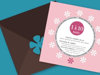 Carte cadeaux (1 à 10 places)