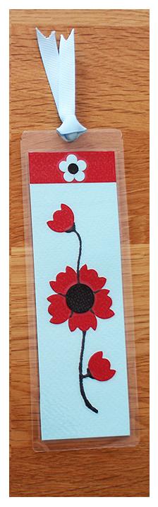 Aqua, Red & Black Bookmark   Handmade Bookmark with Sand