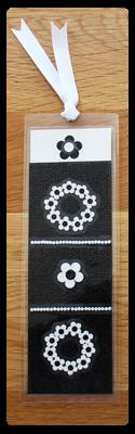 Black & White Flowers I Handmade Bookmark
