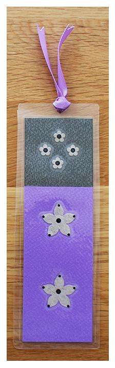 Purple & Grey Handmade Bookmark