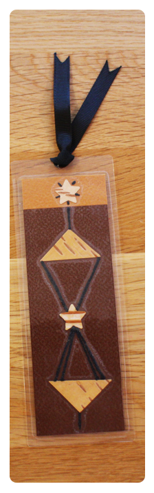 Coffee, Toffee & Cream Bookmark   Handmade Bookmark with Plant Parts & Sand