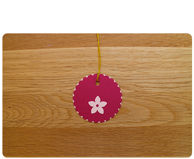 Raspberry & Pale Pink Gift Tags (set of 6)