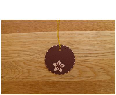Chocolate & Caramel Gift Tags (set of 6)