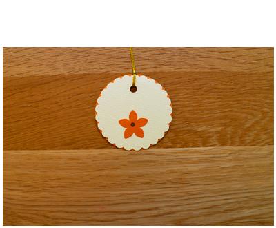 Cream & Orange Gift Tags (set of 6)