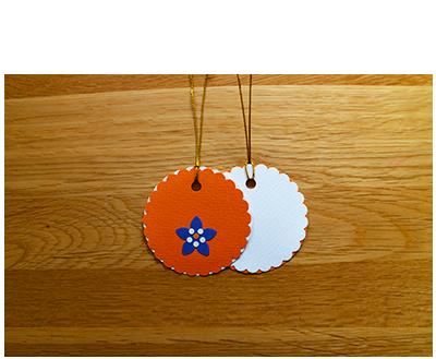 Orange, White & Blue Gift Tags (set of 6)