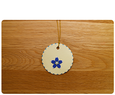 Cream & Blue Gift Tags (set of 6)