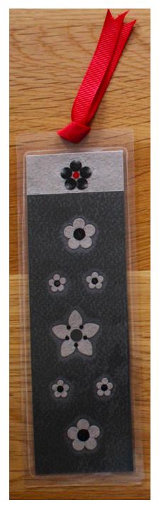 Dark Grey, Light Grey & Black Handmade Bookmark