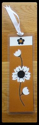 Toffee, White & Black Bookmark | Handmade Bookmark with Sand