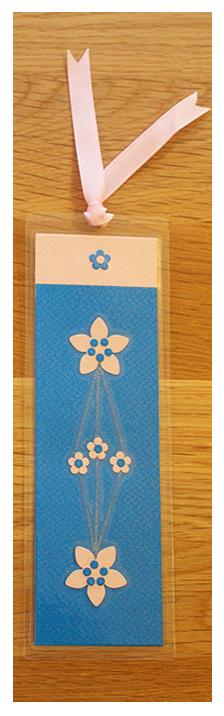 Blue & Pink Bookmark   Handmade Bookmark with Sand