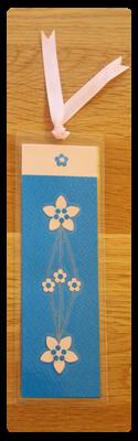 Blue & Pink Bookmark | Handmade Bookmark with Sand