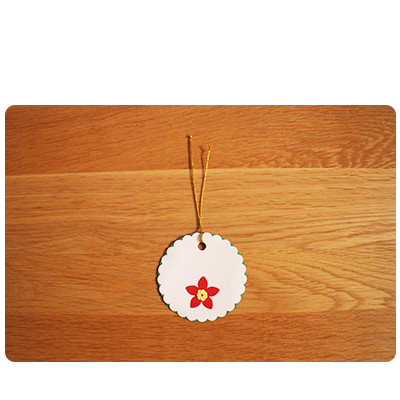 White, Green & Red Gift Tags (set of 6)
