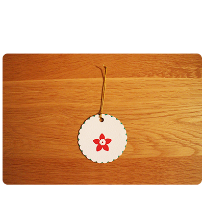 White, Green, Red & Yellow Gift Tags (set of 6)