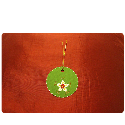 Green, White & Black Glitter Gift Tags (set of 6)