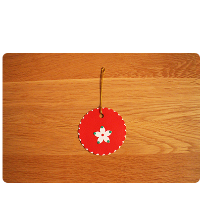 Red, White & Green Gift Tags (set of 6)