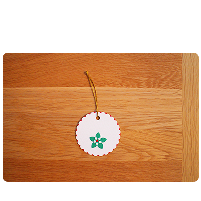 White, Red & Green Gift Tags (set of 6)