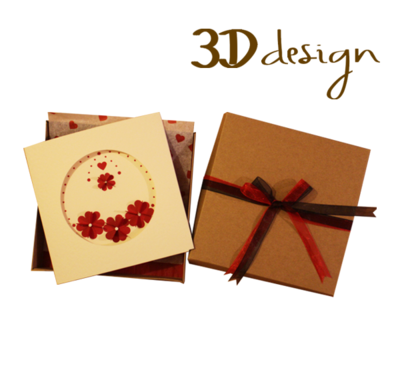 Love Blooms | Handmade 3D Boxed Greeting Card