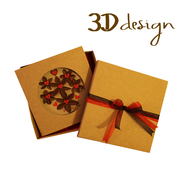 Love & Chocolate | Handmade 3D Boxed Greeting Card