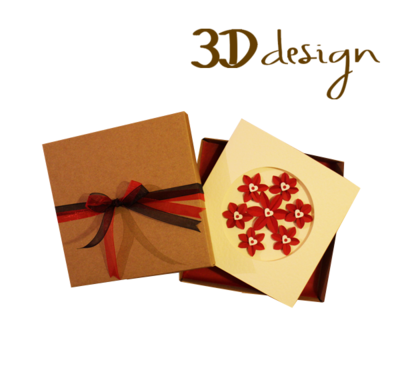 A Whole Lot of Passion | Handmade 3D Boxed Greeting Card
