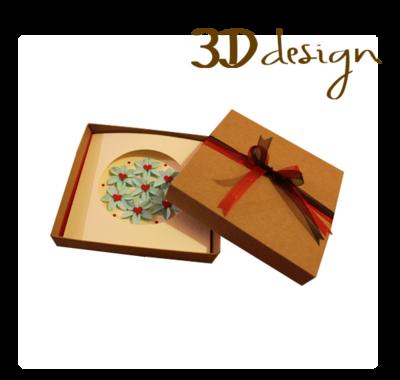Love & Harmony | Handmade 3D Boxed Greeting Card