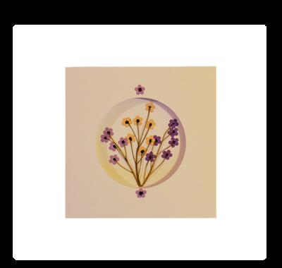 Purple & Yellow Blossoms | Handmade Greeting Card