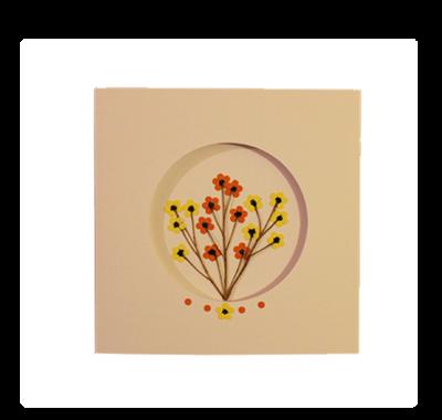 Yellow & Orange Blossoms | Handmade Greeting Card