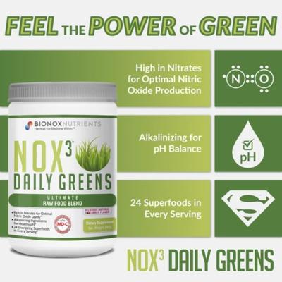 Bionox 3 Daily Greens, 24 superfoods en probiotica in 1 uniek product, 240 gram