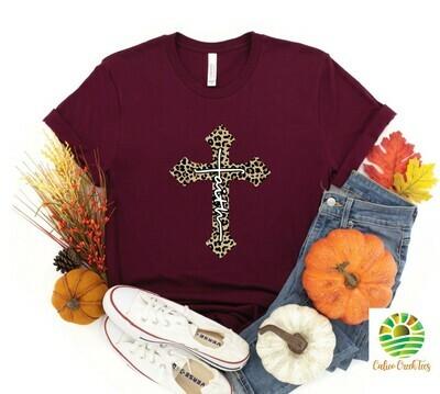 Faith Leopard Cross