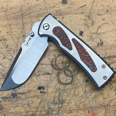 Chaves 229 Drop Point Custom Fat Carbon Mars Valley Inlay and Spacer
