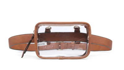 Clear Fanny Pack Brown