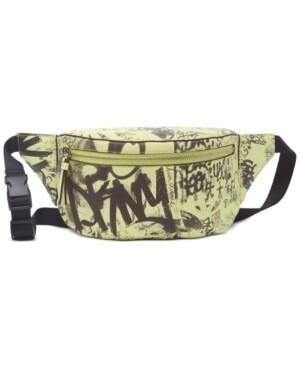 DKNY Women's Large Yellow Graffiti Print Belt Bag