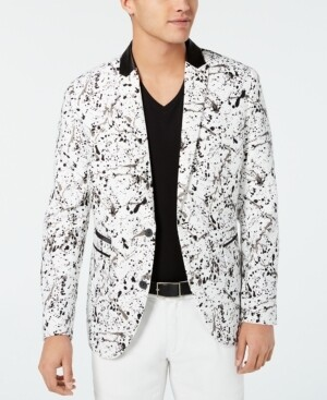 I.n.c. Men's Slim-Fit Paint Splash Blazer xl