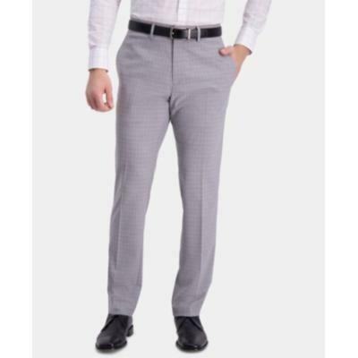 Kenneth Cole Reaction Men's Slim-Fit Performance Stretch Mini-Plaid Dress Pants Size 36x30