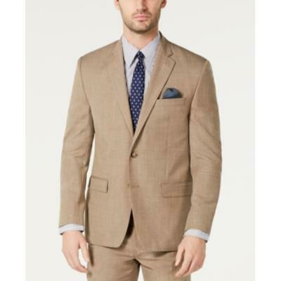 Lauren Ralph Lauren Men's Classic Textured Suit Jacket - Light Brown Size 46R